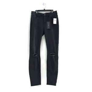 Ashley Mason Charcoal Pants with Ripped Knee 29